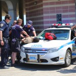 NYPD officers making an arrest