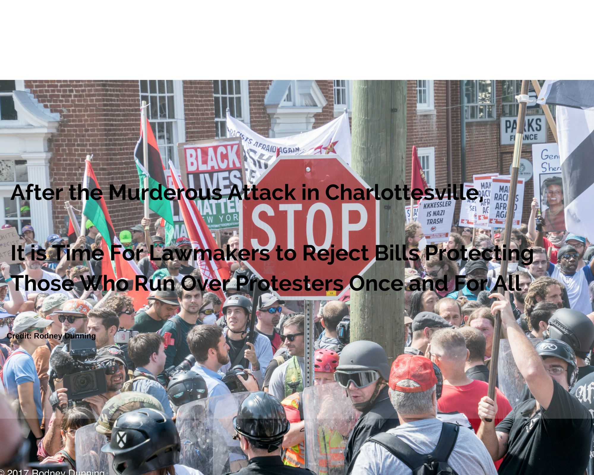 stop running over protesters