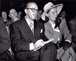 Dalton and Cleo Trumbo at HUAC Hearings
