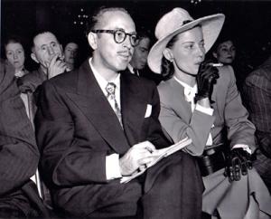 Dalton and Cleo Trumbo at HUAC Hearings