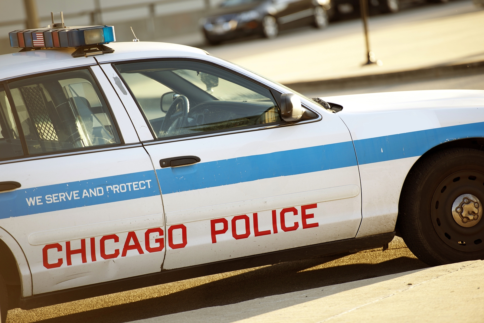 Police Cruiser in Chicago. Chicago Police Car.