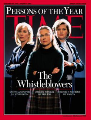 Time magazine cover features whistleblowers, including former FBI agent Colleen Rowley.