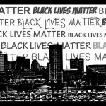 graphic of Baltimore skyline and Black Lives Matter