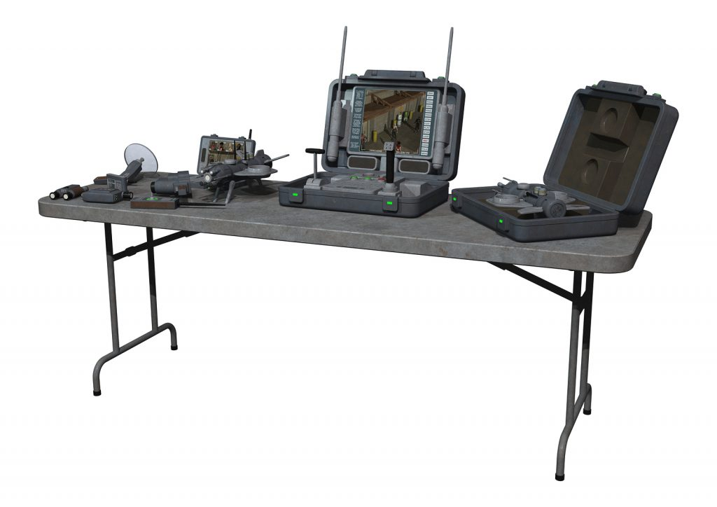 Surveillance Equipment on a table