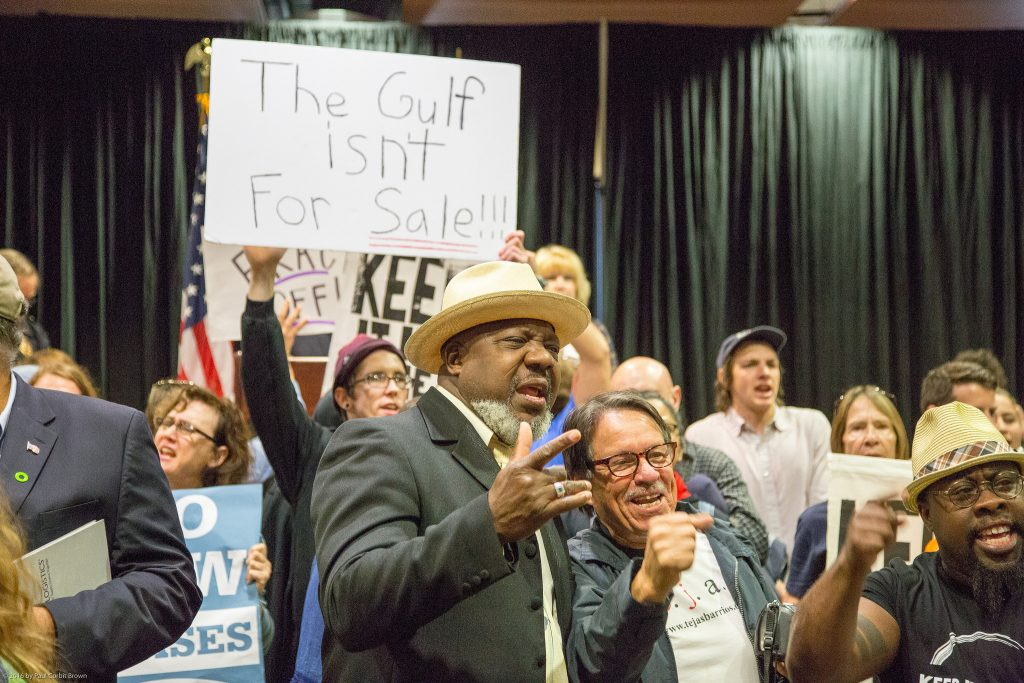 Protesters at the superdome