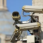 four surveillance camera to see all main points of the great metropolis