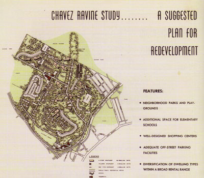 a map of the proposed housing development at chavez ravine