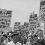 1963 march on washington signs for voting rights