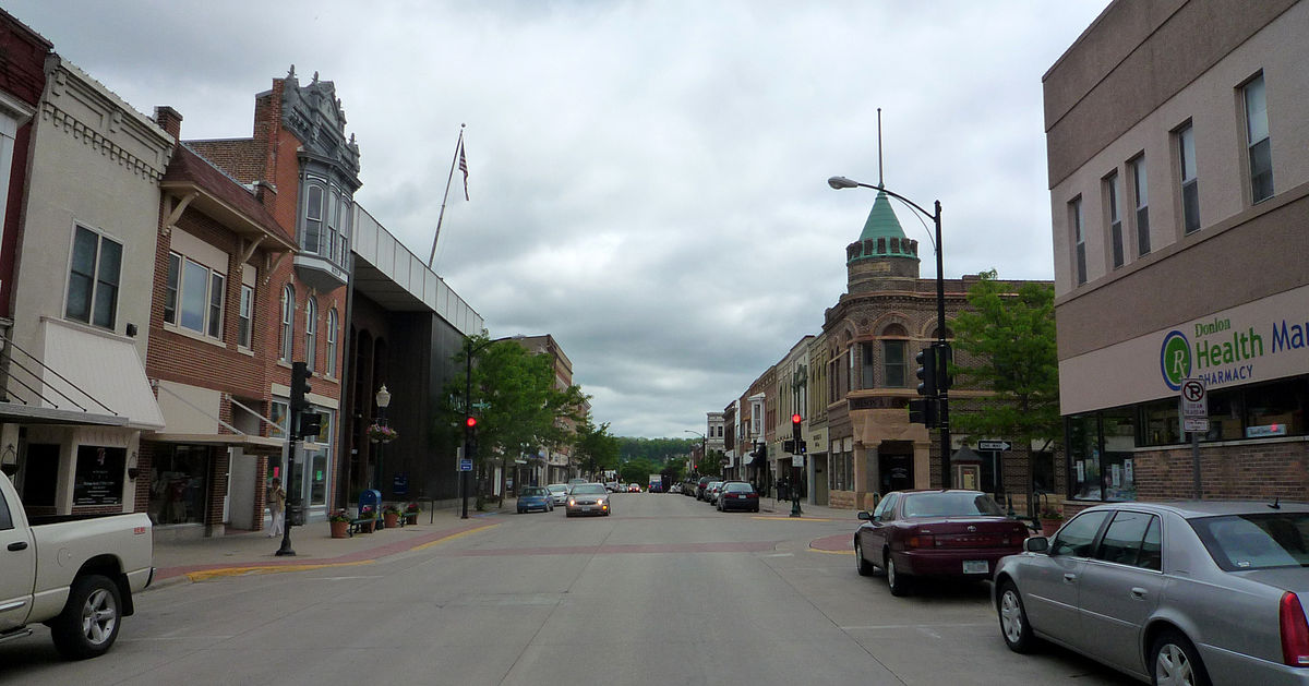 small town main street - Decorah IA