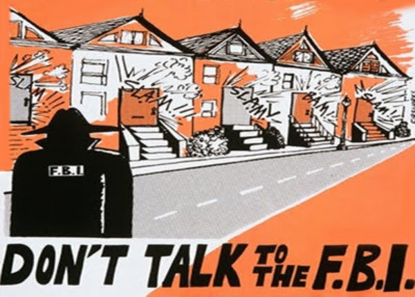 "archival poster ""don't talk to the FBI"