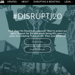 screenshot of the DisruptJ20.org home page