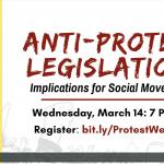 [WEBINAR] Anti-Protest Legislation: Implications for Social Movement