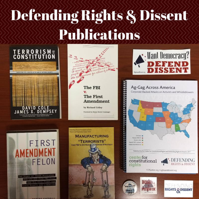 "books published by DRAD including ""Terorism and the Constitution"" and ""First Amendment Felon"""