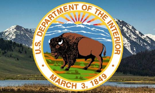 DOI logo with a buffalo and mountains